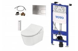 Kompletni set: TOTO WASHLET RX samodejno splakovanje + TOTO WC školjka RP + TOTO splakovalnik + TOTO tipka + TOTO priključni set