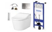 Kompletni set: TOTO WASHLET RW samodejno splakovanje + TOTO WC školjka RP + TOTO splakovalnik + TOTO tipka + TOTO priključni set
